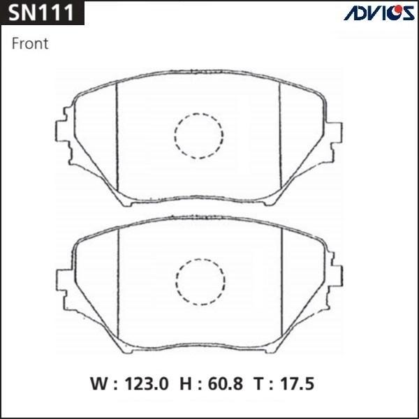 Дисковые тормозные колодки ADVICS SN111 SN111 купить в Абакане