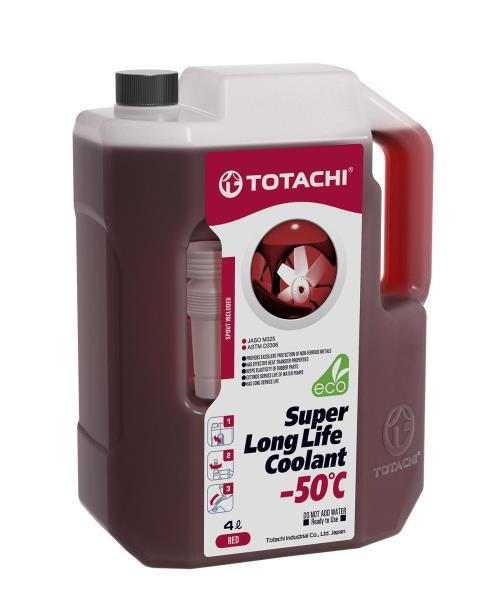 Жидкость охлаждающая низкозамерзающая TOTACHI SUPER LONG LIFE COOLANT Red -50C 4л 4589904520808 купить в Абакане