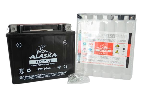 Аккумуляторная батарея ALASKA 10АЧ YTX12-BS 12V YTX12-BS купить в Абакане