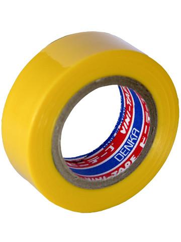 Лента изоляционная Denka Vini Tape, 19 мм, 9 м, желтая #102-Yellow 9m купить в Абакане
