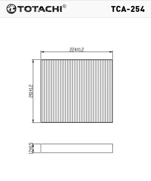 Фильтр салона TOTACHI TCA-254 AC-003 97133-2E200 MANN CU 2336 TCA-254 купить в Абакане