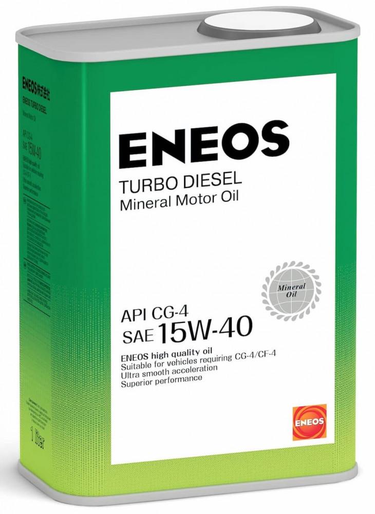 Моторное масло Масло моторное минеральное ENEOS Turbo Diesel 15W-40 СG-4 1л oil1427 купить в Абакане