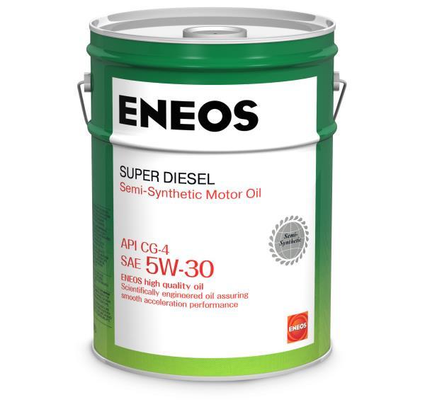 Моторное масло Масло моторное ENEOS Super Diesel CG-4 псинт 5W30 20л oil1332 купить в Абакане