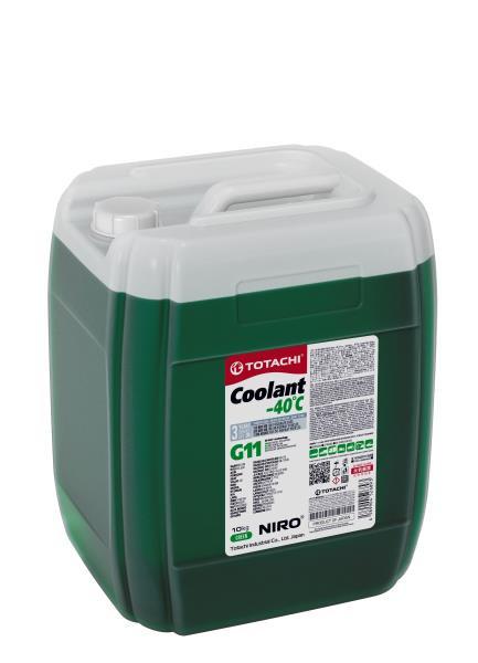 Охлаждающая Жидкость TOTACHI NIRO Coolant Green -40C G11 10кг 4589904526893 купить в Абакане
