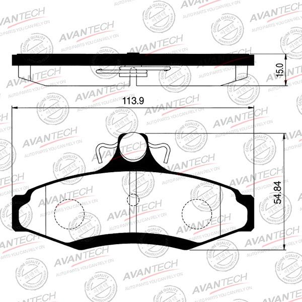 Колодки тормозные дисковые Avantech - AV077 AV077 купить в Абакане
