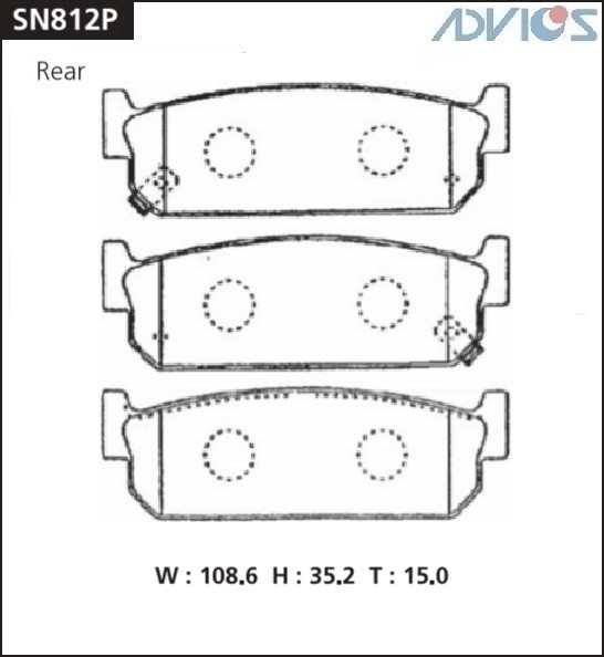 Дисковые тормозные колодки ADVICS SN812P SN812P купить в Абакане