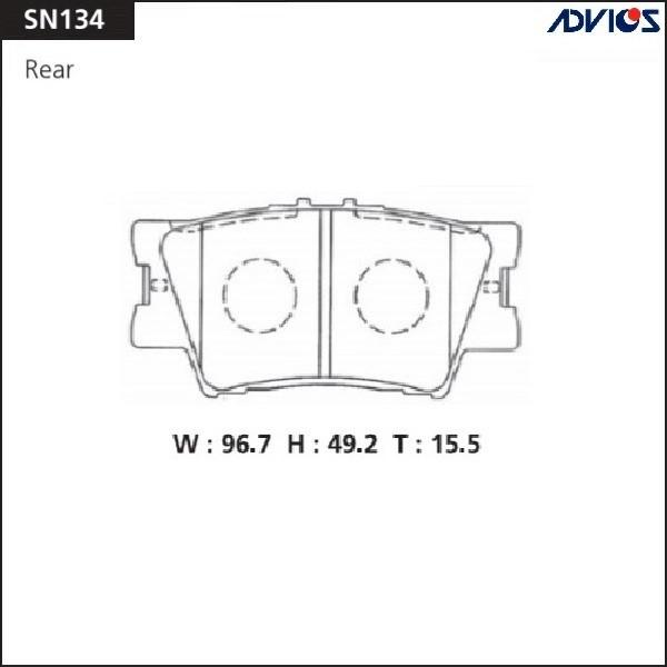 Дисковые тормозные колодки ADVICS SN134 SN134 купить в Абакане