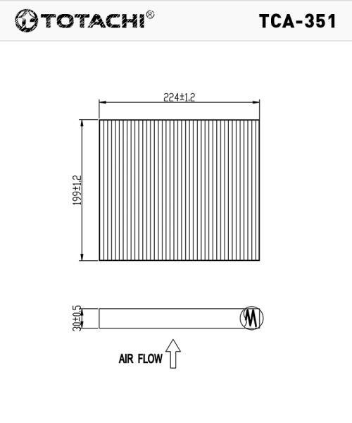 Фильтр салона TOTACHI TCA-351 AC-110 E 27891-BM400 CU 2345 TCA-351 купить в Абакане