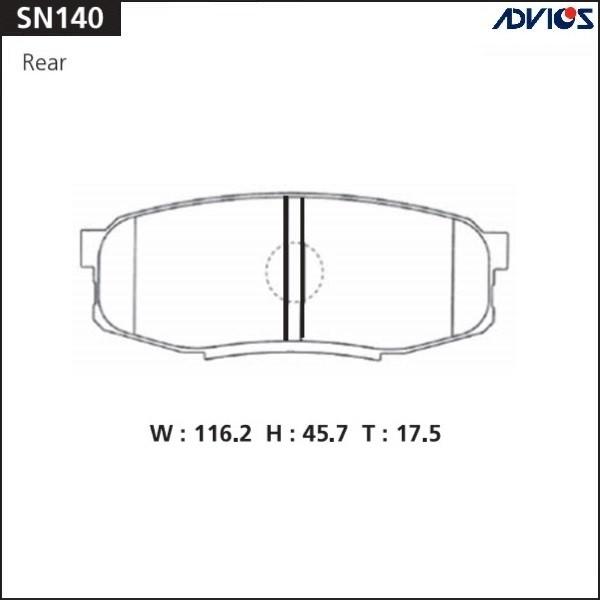 Дисковые тормозные колодки ADVICS SN140 SN140 купить в Абакане