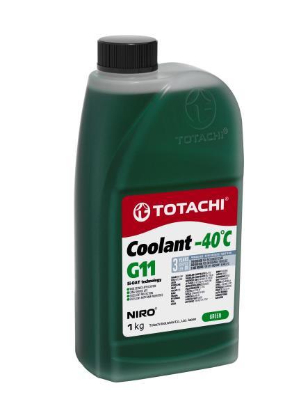 Охлаждающая Жидкость TOTACHI NIRO Coolant Green -40C G11 1кг 4589904526800 купить в Барнауле