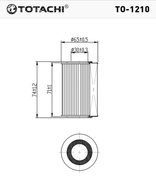 Фильтр масляный TOTACHI TO-1210 O-406 L321-14-302 MANN HU 711 / 2x TO-1210 купить в Абакане
