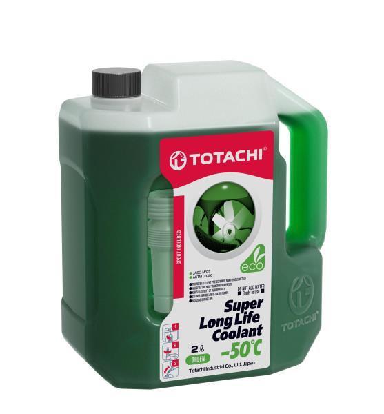 Жидкость охлаждающая низкозамерзающая TOTACHI SUPER LONG LIFE COOLANT Green -50C 2л 4589904520617 купить в Абакане