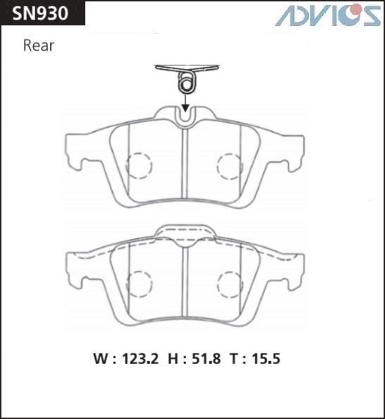 Дисковые тормозные колодки ADVICS SN930 SN930 купить в Абакане