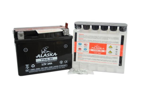Аккумуляторная батарея ALASKA 3АЧ YTX4L-BS 12V YTX4L-BS купить в Абакане