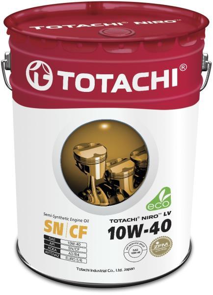 Моторное масло Масло моторное TOTACHI NIRO LV Semi-Synthetic SN 10W-40 19л 4589904921629 купить в Абакане