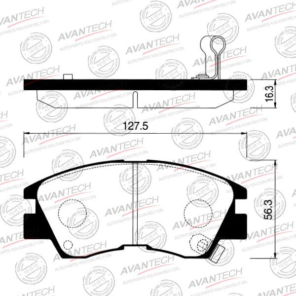 Колодки тормозные дисковые Avantech (противоскрипная пластина в компл.) - AV926 AV926 купить в Абакане