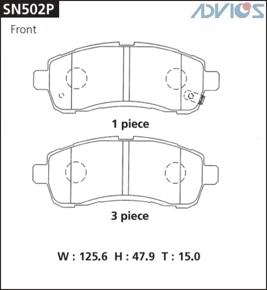 Дисковые тормозные колодки ADVICS SN502P SN502P купить в Абакане