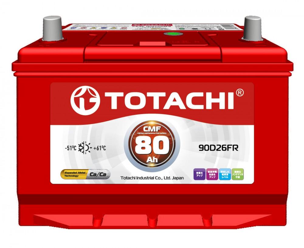 Аккумулятор TOTACHI CMF 80 а / ч 90D26 FR 4589904525742 купить в Абакане