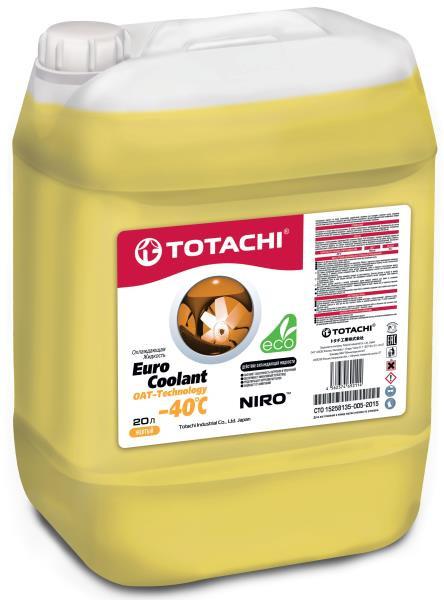 Охлаждающая жидкость TOTACHI NIRO EURO COOLANT -40°C Карбоксилатн. 20л 4562374692114 купить в Абакане