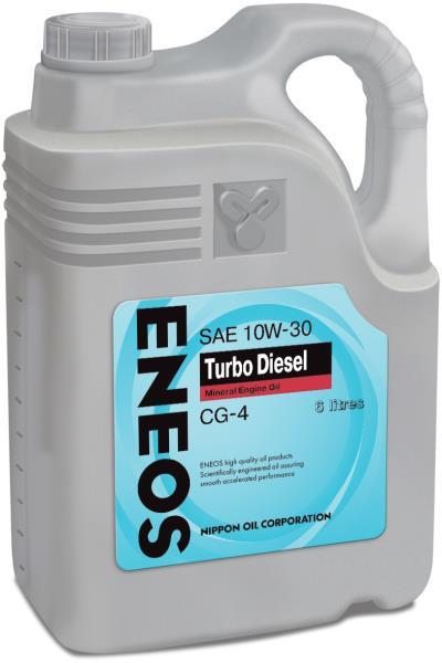 Моторное масло Масло моторное ENEOS Turbo Diesel CG-4 Минерал 10W30 6л oil1426 купить в Абакане