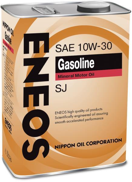 Моторное масло Масло моторное ENEOS Gasoline SJ Минерал 10W30 4л 01000124 купить в Абакане