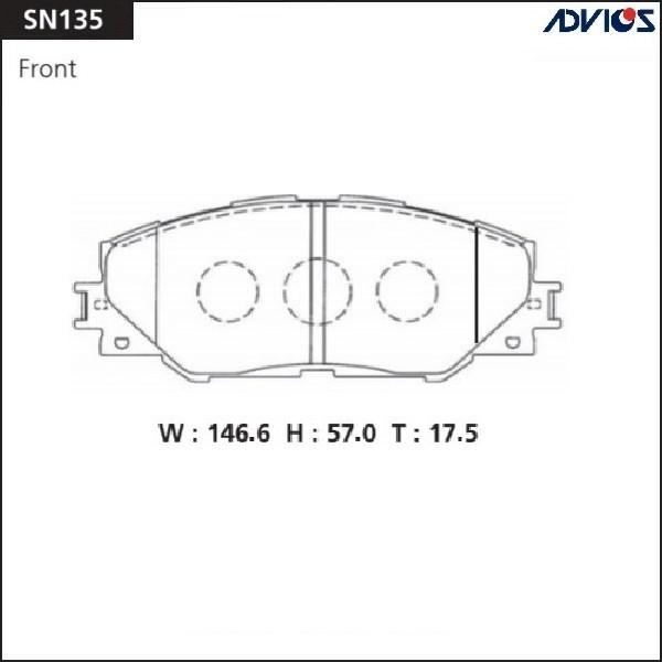 Дисковые тормозные колодки ADVICS SN135 SN135 купить в Абакане