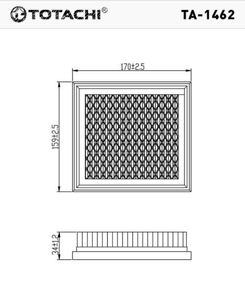 Фильтр воздушный TOTACHI TA-1462 AN-221 V 16546-AX600 MANN C 1618 TA-1462 купить в Абакане
