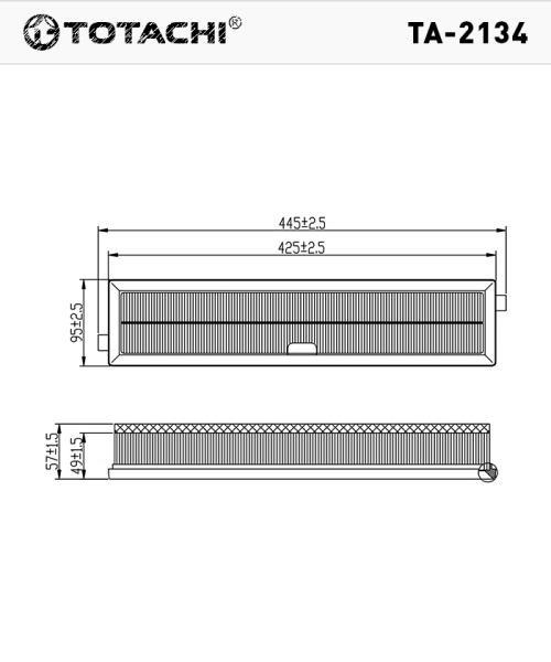 Воздушный фильтр TOTACHI TA-2134 1444FF C43711 TA-2134 купить в Абакане