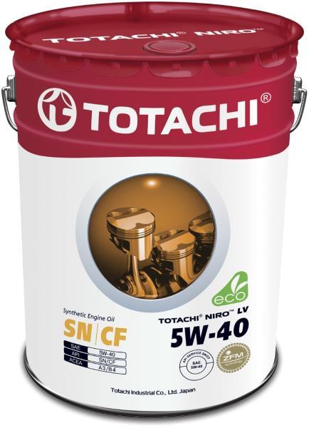 Моторное масло Масло моторное TOTACHI NIRO LV Synthetic SN / CF 5W-40 19л 4589904523557 купить в Барнауле