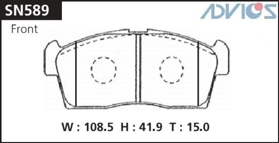 Дисковые тормозные колодки ADVICS SN589 SN589 купить в Абакане
