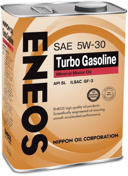 Моторное масло Масло моторное ENEOS Turbo Gasoline SL Минерал 5W30 4л 01000154 купить в Абакане