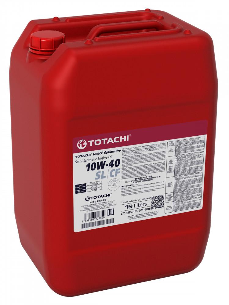 Моторное масло Масло моторное TOTACHI NIRO Optima Pro Semi-Synthetic 10W-40 SL / CF 19л 4589904928840 купить в Абакане