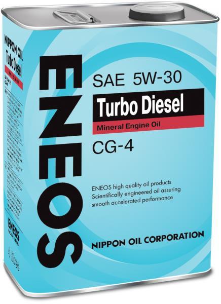 Моторное масло Масло моторное ENEOS Turbo Diesel CG-4 Минерал 5W30 4л 01000054 купить в Абакане
