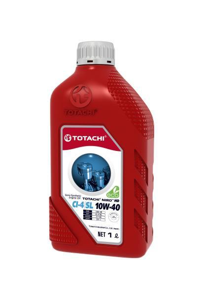 Моторное масло Масло моторное TOTACHI NIRO HD Semi-Synthetic API CI-4 / SL 10W-40 пласт. 1л 4589904927355 купить в Абакане