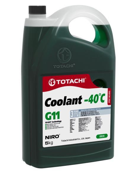 Охлаждающая Жидкость TOTACHI NIRO Coolant Green -40C G11 5кг 4589904526817 купить в Барнауле