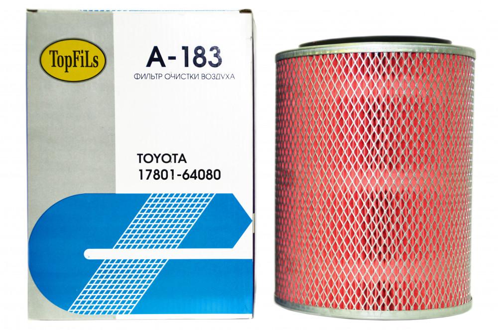 Фильтр воздушный TOP FILS A-183 17801-64080 A-183 купить в Абакане