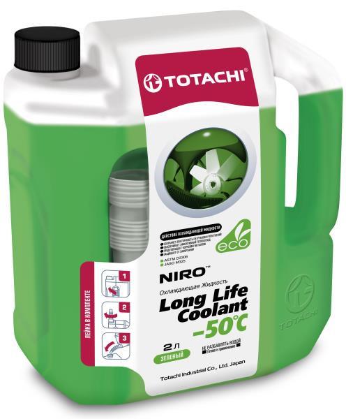 Охлаждающая жидкость TOTACHI NIRO LONG LIFE COOLANT GREEN -50 C 2л 4589904924156 купить в Барнауле