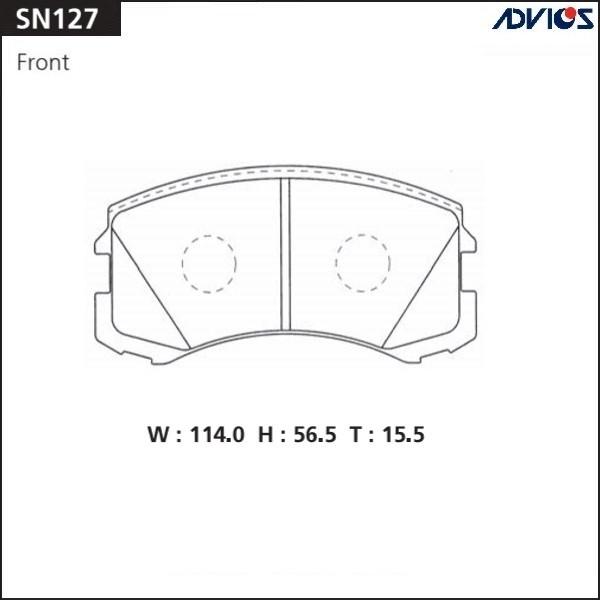 Дисковые тормозные колодки ADVICS SN127 SN127 купить в Абакане