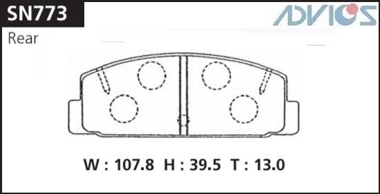 Дисковые тормозные колодки ADVICS SN773 SN773 купить в Абакане
