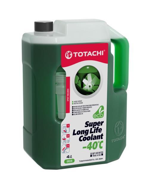 Жидкость охлаждающая низкозамерзающая TOTACHI SUPER LONG LIFE COOLANT Green -40C 4л 4589904520532 купить в Абакане