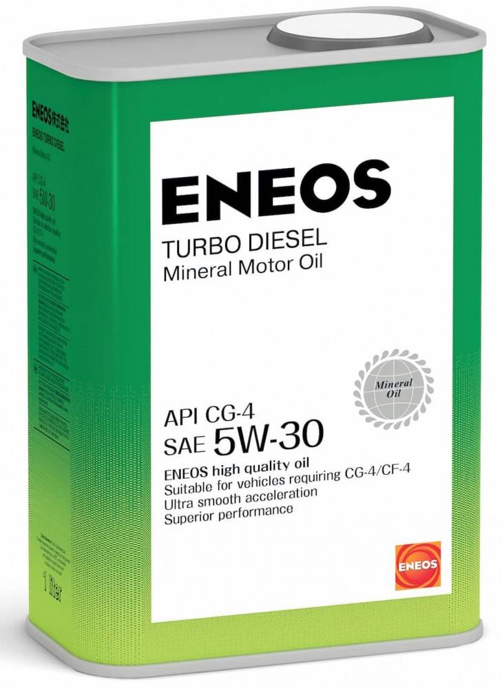 Моторное масло Масло моторное минеральное ENEOS Turbo Diesel 5W-30 СG-4 1л oil1432 купить в Абакане