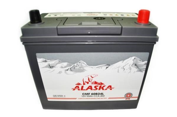 Аккумулятор ALASKA CMF 234 / 127 / 220, 50А / ч, ССА 450А, Обр. 60B24L silver+ 8808240010641 купить в Абакане