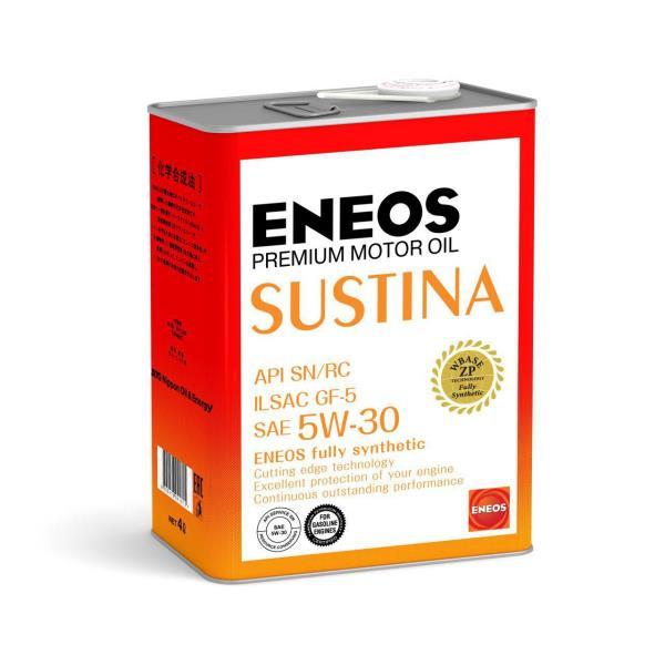 Моторное масло Масло моторное ENEOS SUSTINA SN Синтетика 5W-30 4л 4943589134680 купить в Абакане