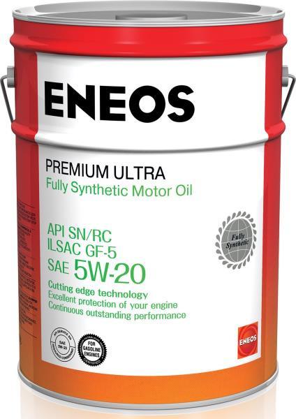 Моторное масло Масло моторное ENEOS Premium Ultra SN Синтетика 5W20 20л 8801252022176 купить в Хабаровске