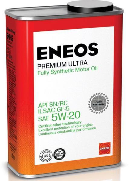Моторное масло Масло моторное ENEOS Premium Ultra SN Синтетика 5W20 1л 8801252022190 купить в Барнауле