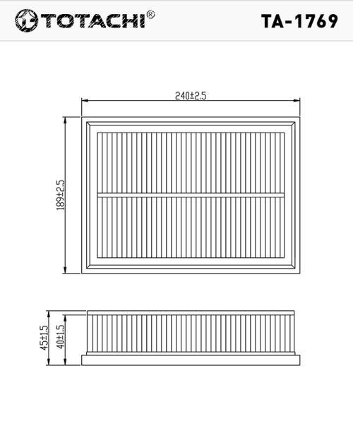 Фильтр воздушный TOTACHI TA-1769 28113-37101 MANN C 2469 TA-1769 купить в Абакане