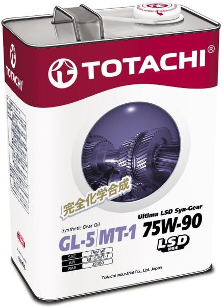 Масло синтетическое трансмиссионное TOTACHI Ultima LSD Syn-Gear 75W-90 GL-5 4л 4589904931550 купить в Абакане