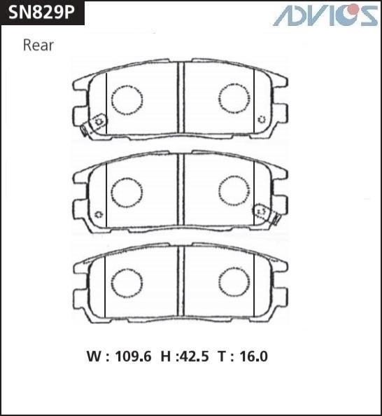 Дисковые тормозные колодки ADVICS SN829P SN829P купить в Абакане