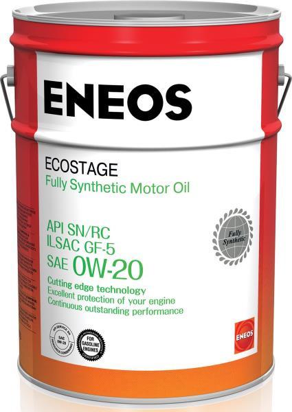 Моторное масло Масло моторное ENEOS Ecostage SN Синтетика 0W20 20л 8801252022039 купить в Абакане