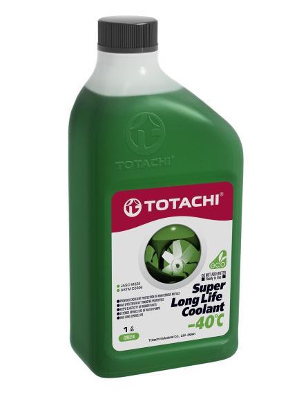 Жидкость охлаждающая низкозамерзающая TOTACHI SUPER LONG LIFE COOLANT Green -40C 1л 4589904520518 купить в Абакане